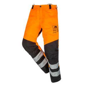 Pantalon anti-coupure SIP Protection BasePro Hi-Vis Classe 3 orange
