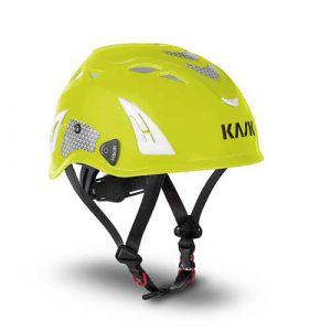 Helm Kask Plasma Hi Viz fluogeel + reflecterende stickers