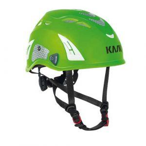 Helm Kask Superplasma PL Hi Viz fluogroen + reflecterende stickers