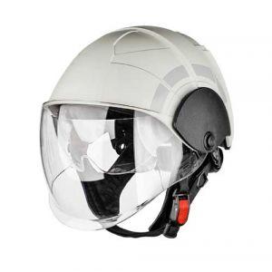 Casque PAB MP1 STD, visière interne + externe, blanc