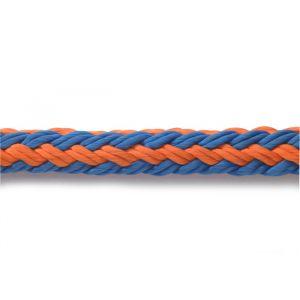 Corde Teufelberger tREX tresse creuse 22,2mm orange/bleu