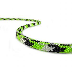 Corde de rappel New England Tachyon 11,5mm 1 épissure vert/blanc/noir