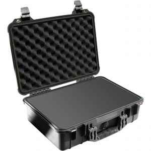 Koffer Peli 1500 met schuimrubber zwart