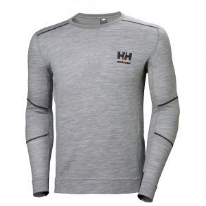 Maillot avec manches longues Helly Hansen Lifa Merino gris 75106
