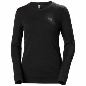 Onderhemd lange mouw Helly Hansen Womens Lifa Merino zwart 75209