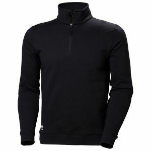 Sweater Helly Hansen Manchester Half Zip Sweatshirt zwart 79210