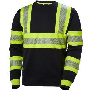 Pull Helly Hansen ICU Sweatshirt noir/jaune 79272