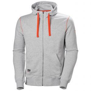 Sweater met kap Helly Hansen Oxford FZ Hoodie grijs 79028