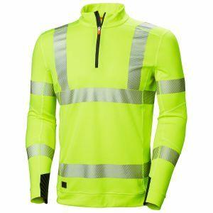 T-Shirt Helly Hansen Lifa Active Hi Vis half zip geel 75110