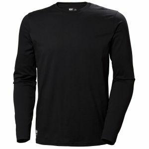 T-Shirt Helly Hansen Manchester Longsleeve zwart 79169