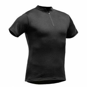 T-Shirt Pfanner Tencel-Poly Zip-Neck zwart